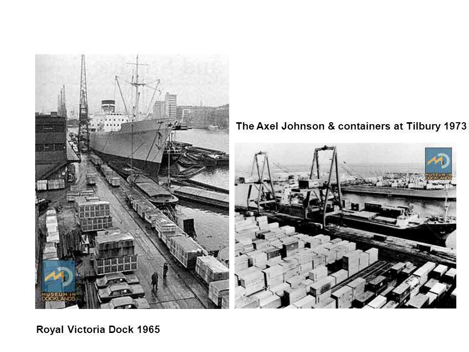 The Axel Johnson & containers at Tilbury 1973