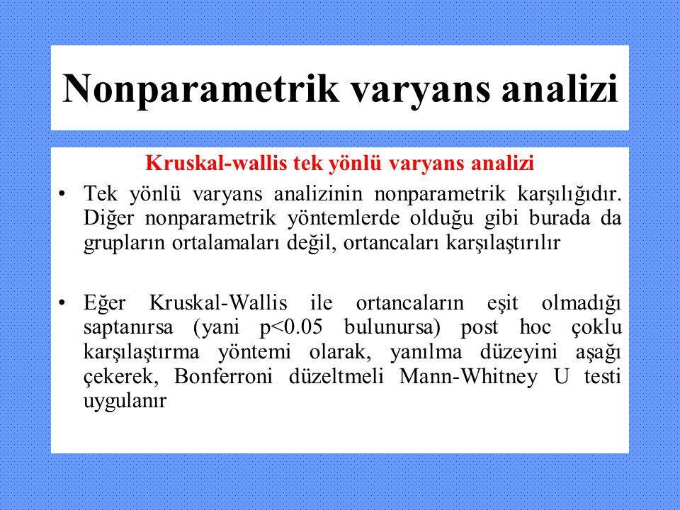 Nonparametrik varyans analizi