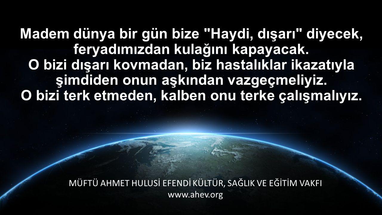 MÜFTÜ AHMET HULUSİ EFENDİ KÜLTÜR, SAĞLIK VE EĞİTİM VAKFI