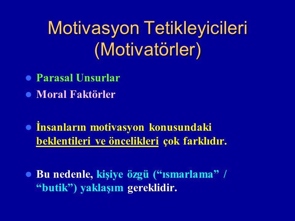 Motivasyon Tetikleyicileri (Motivatörler)