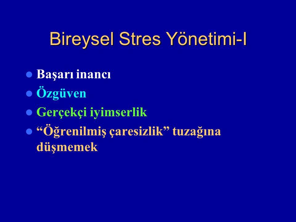Bireysel Stres Yönetimi-I