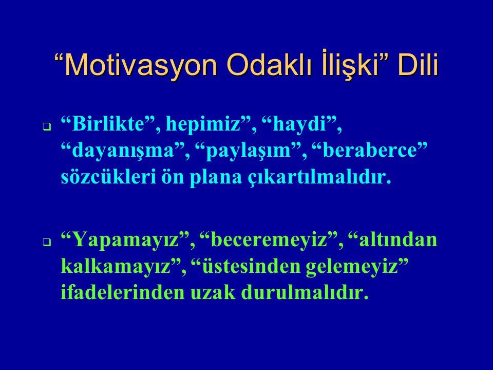 Motivasyon Odaklı İlişki Dili