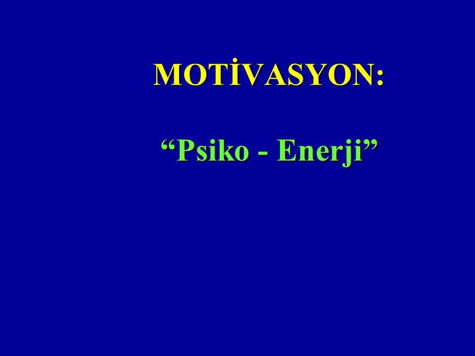 MOTİVASYON: Psiko - Enerji