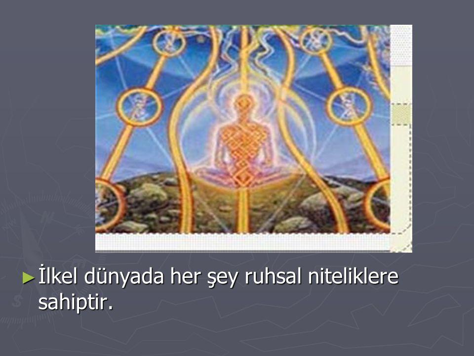 İlkel dünyada her şey ruhsal niteliklere sahiptir.