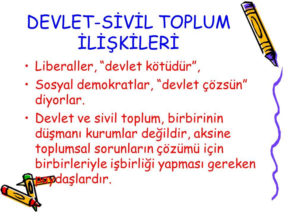 DEVLET-SİVİL TOPLUM İLİŞKİLERİ