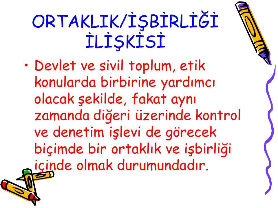ORTAKLIK/İŞBİRLİĞİ İLİŞKİSİ