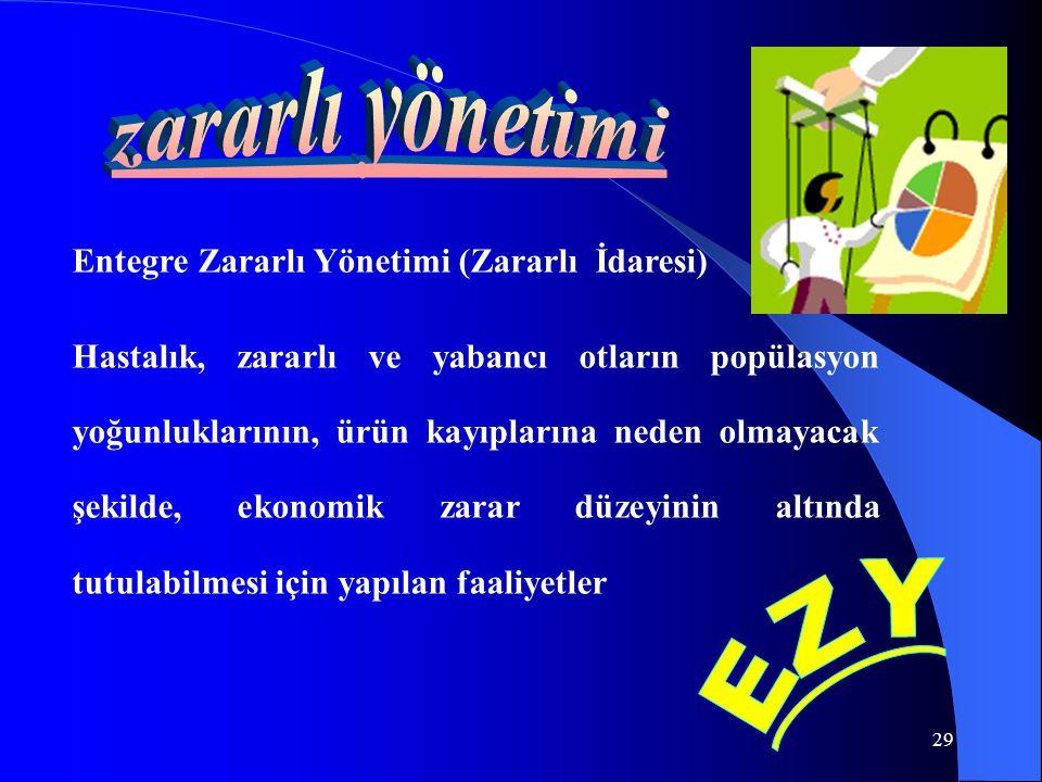 zararlı yönetimi EZY Entegre Zararlı Yönetimi (Zararlı İdaresi)
