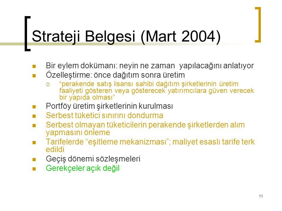 Strateji Belgesi (Mart 2004)
