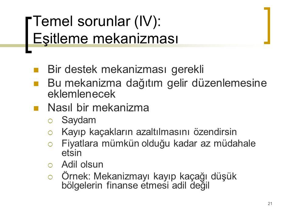 Temel sorunlar (IV): Eşitleme mekanizması
