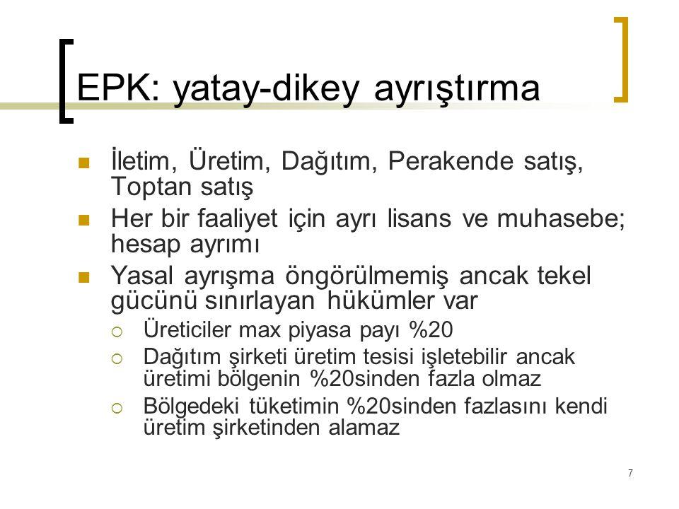 EPK: yatay-dikey ayrıştırma