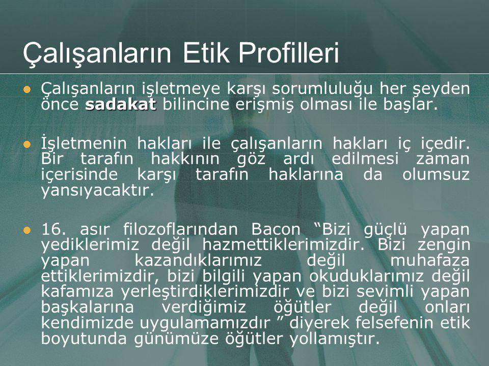 Çalışanların Etik Profilleri
