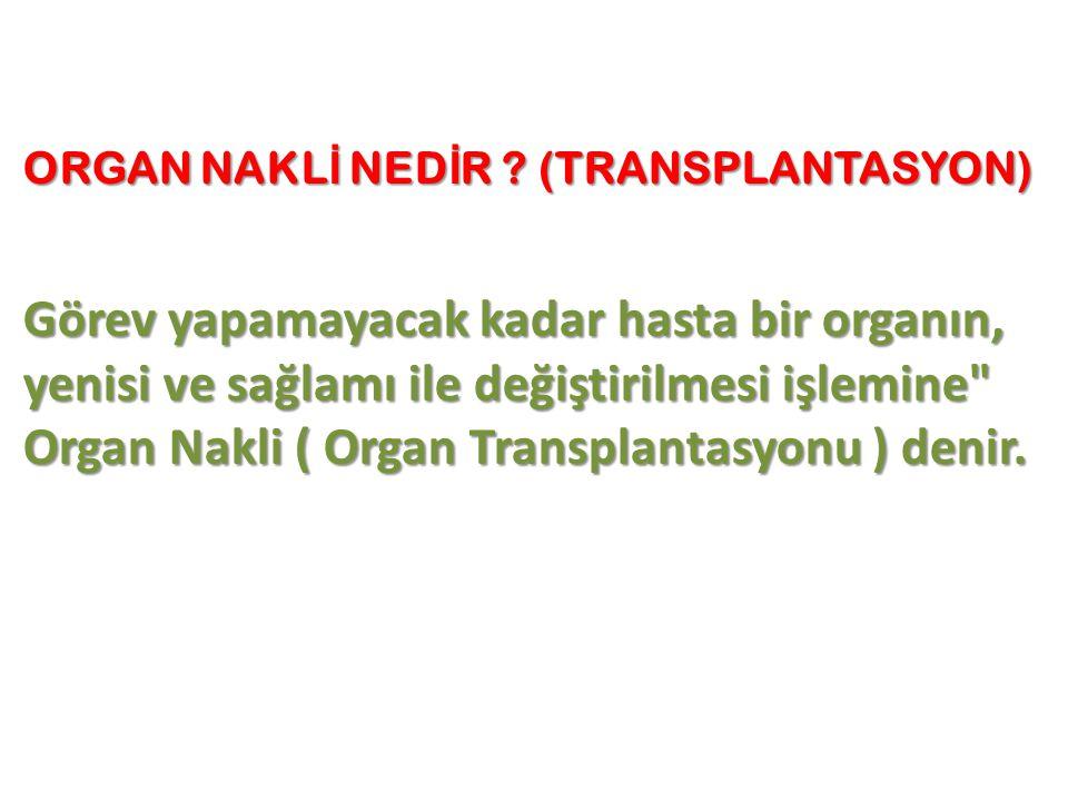 ORGAN NAKLİ NEDİR (TRANSPLANTASYON)