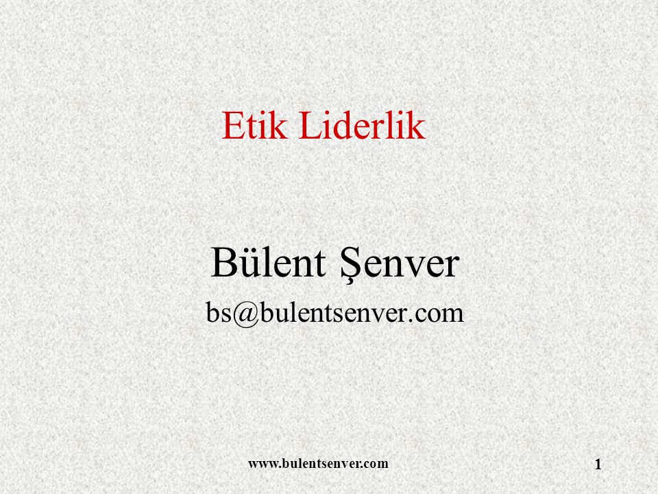 Bülent Şenver bs@bulentsenver.com