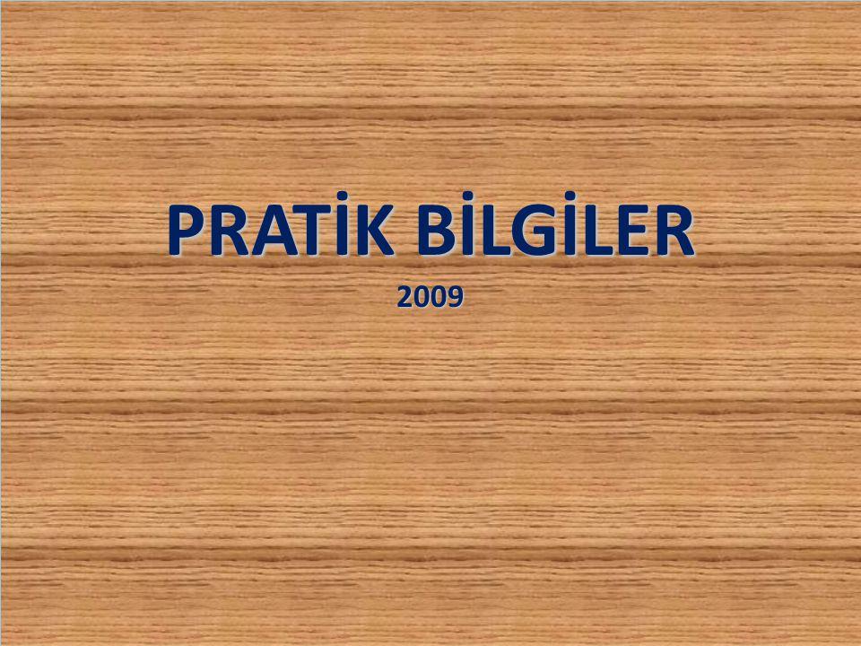 PRATİK BİLGİLER 2009