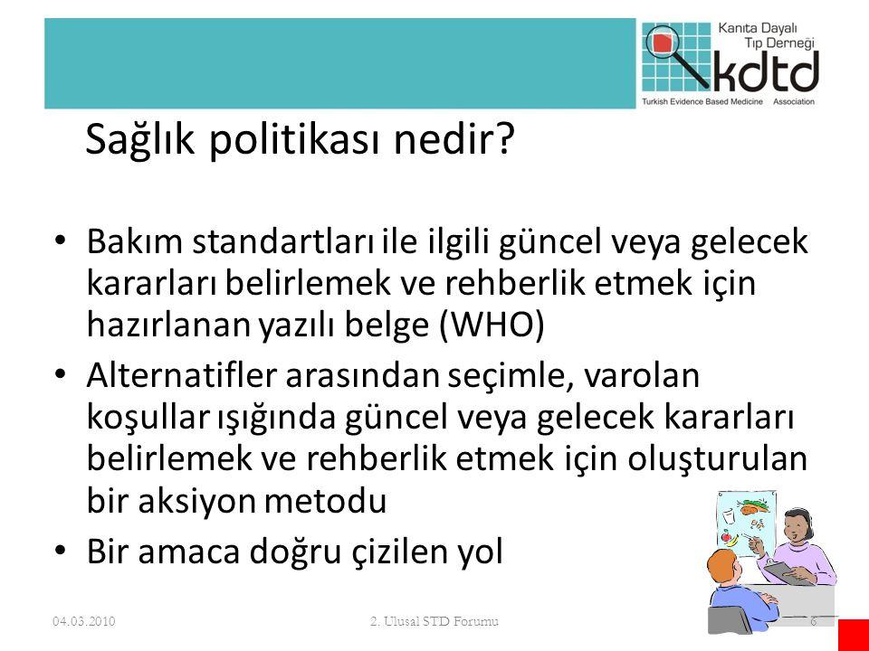 Sağlık politikası nedir
