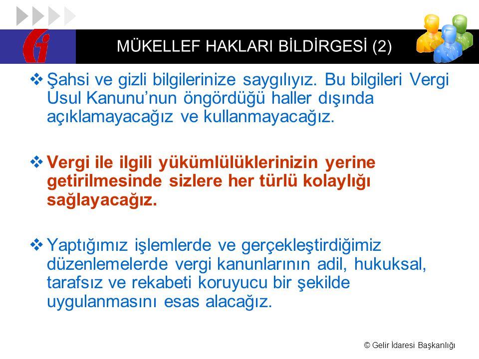 MÜKELLEF HAKLARI BİLDİRGESİ (2)