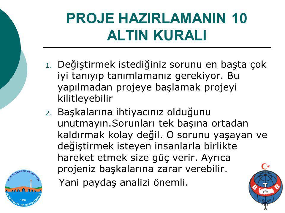 PROJE HAZIRLAMANIN 10 ALTIN KURALI