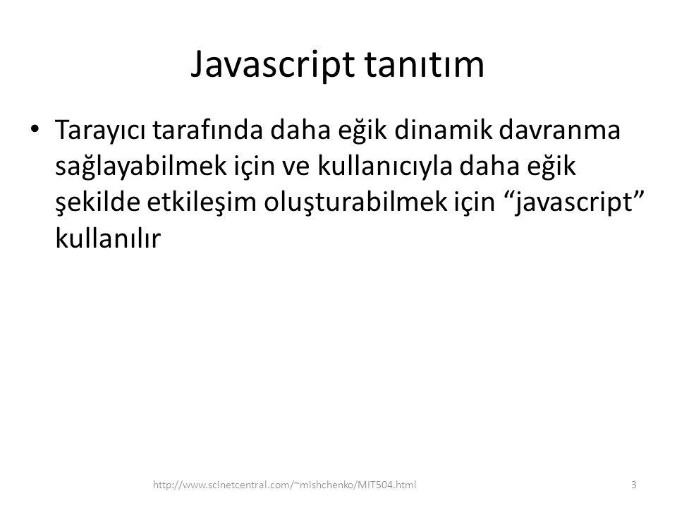 Javascript tanıtım