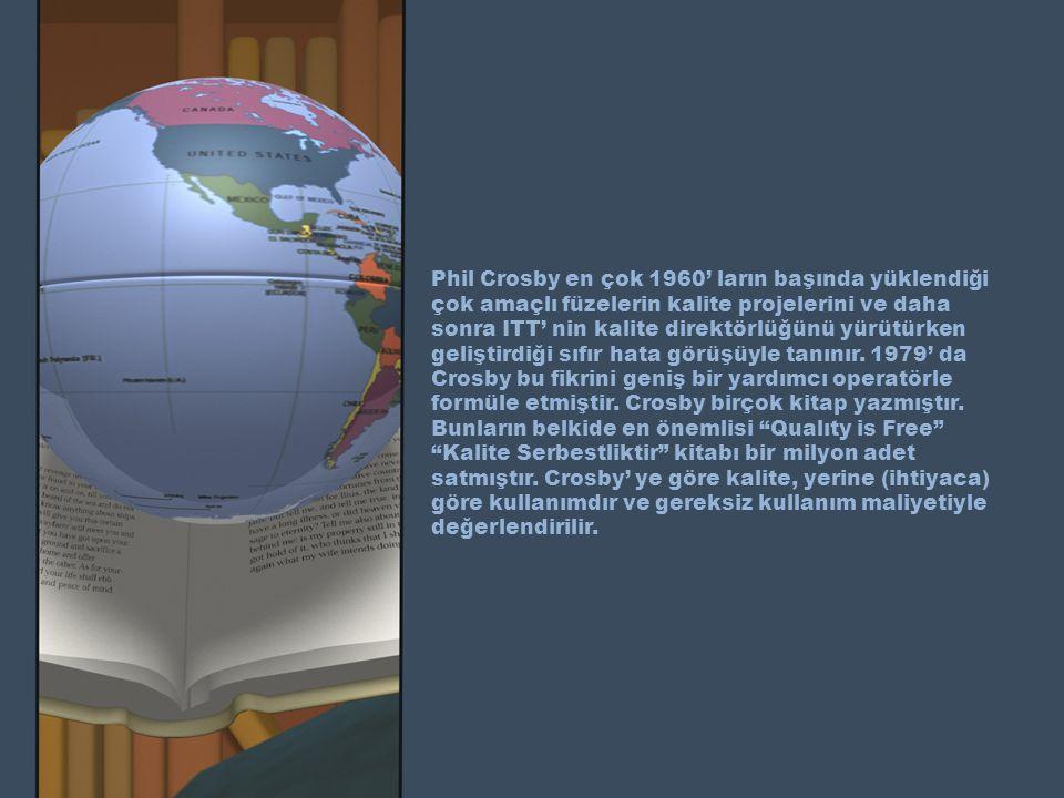 Phil Crosby en çok 1960' ların başında yüklendiği çok amaçlı füzelerin kalite projelerini ve daha sonra ITT' nin kalite direktörlüğünü yürütürken geliştirdiği sıfır hata görüşüyle tanınır.