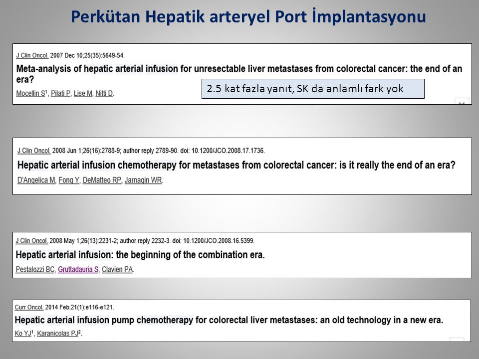 Perkütan Hepatik arteryel Port İmplantasyonu