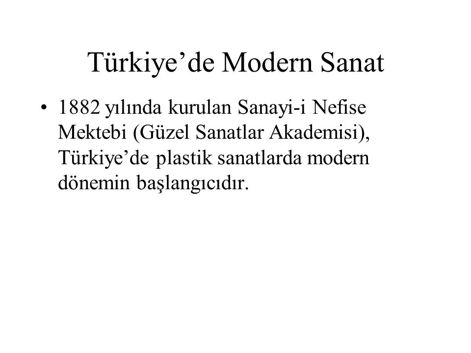 Türkiye'de Modern Sanat