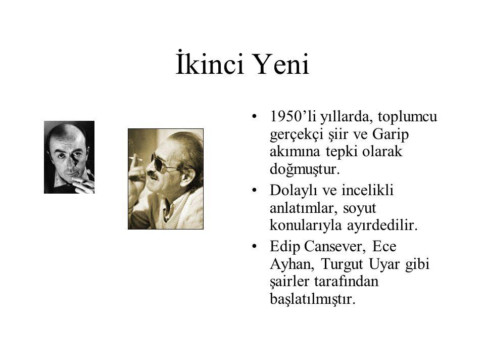 İkinci Yeni 1950'li yıllarda, toplumcu gerçekçi şiir ve Garip akımına tepki olarak doğmuştur.