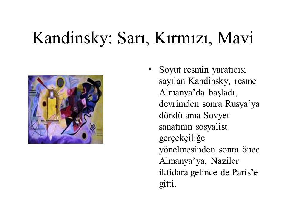 Kandinsky: Sarı, Kırmızı, Mavi