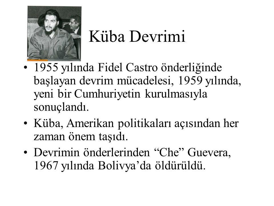 Küba Devrimi 1955 yılında Fidel Castro önderliğinde başlayan devrim mücadelesi, 1959 yılında, yeni bir Cumhuriyetin kurulmasıyla sonuçlandı.