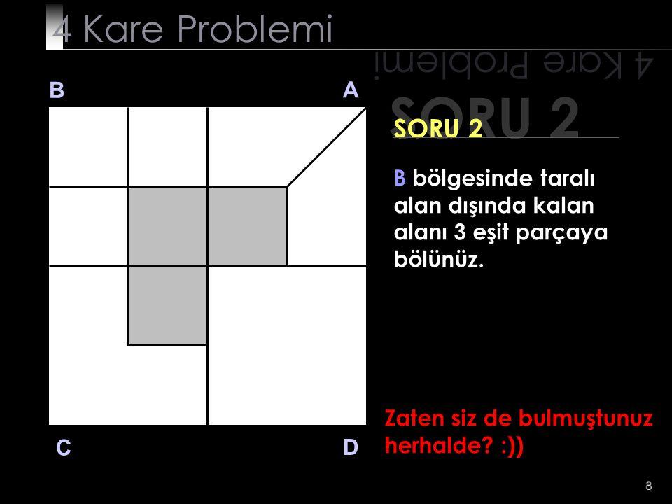 SORU 2 4 Kare Problemi 4 Kare Problemi SORU 2 B A