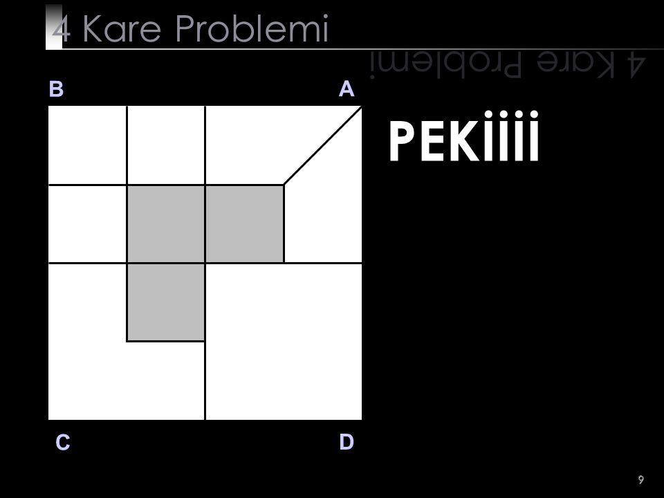 4 Kare Problemi 4 Kare Problemi B A PEKİİİİ C D