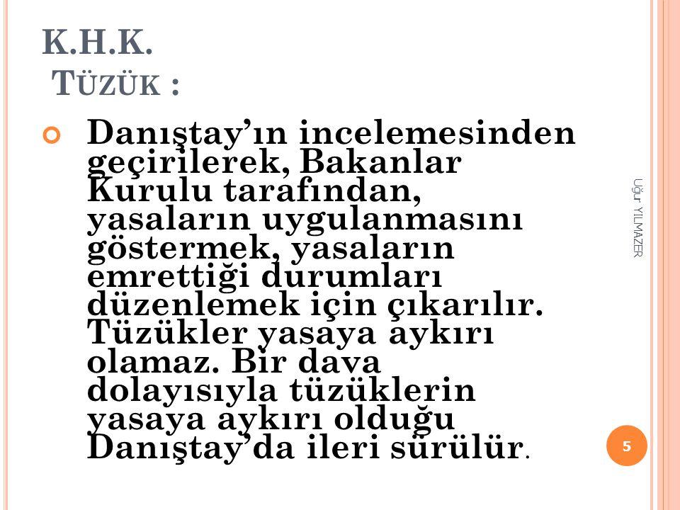 K.H.K. Tüzük :