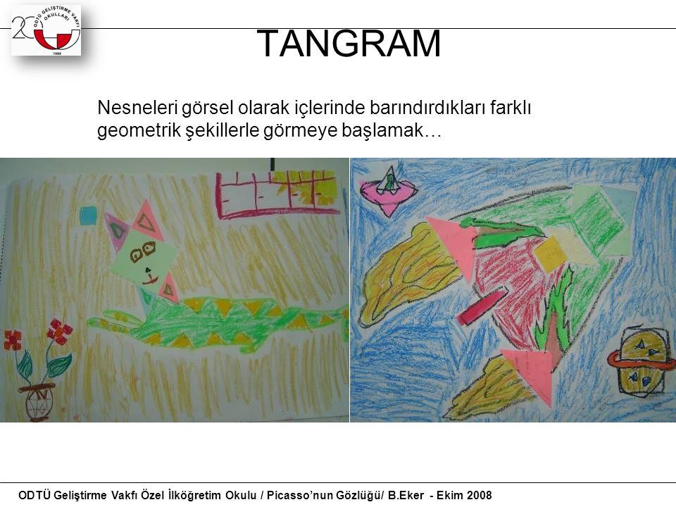 TANGRAM Nesneleri görsel olarak içlerinde barındırdıkları farklı geometrik şekillerle görmeye başlamak…