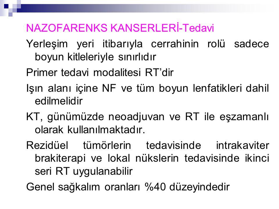 NAZOFARENKS KANSERLERİ-Tedavi