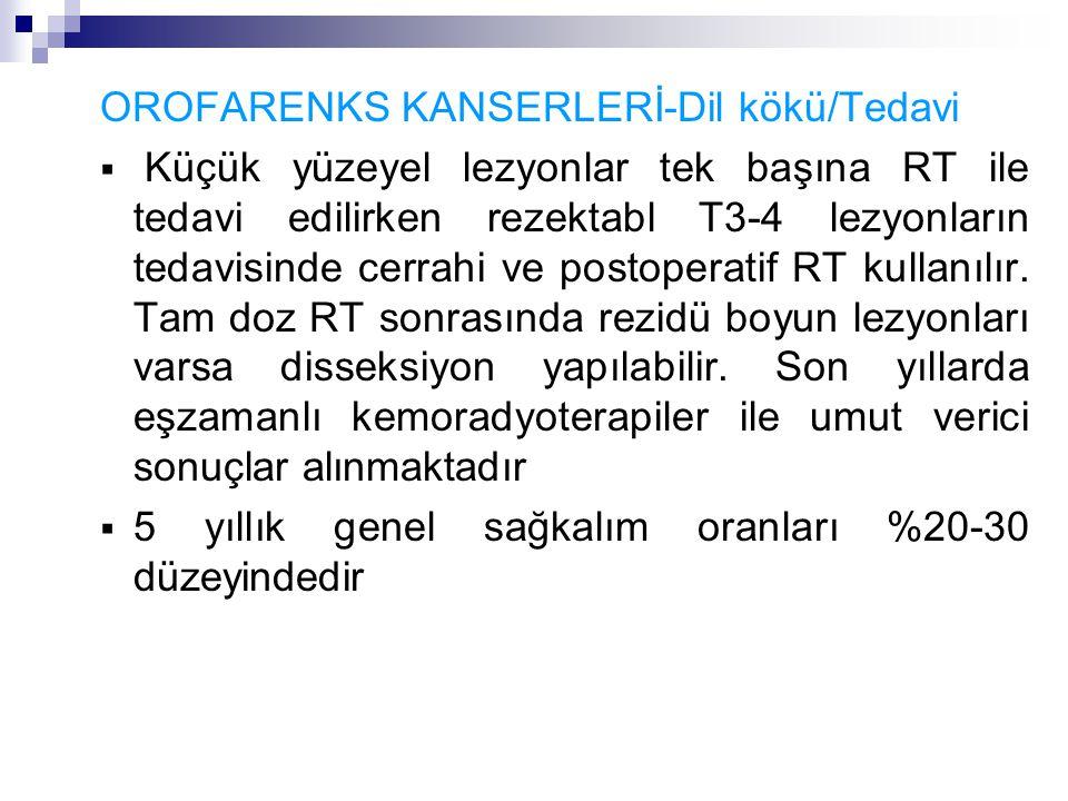 OROFARENKS KANSERLERİ-Dil kökü/Tedavi