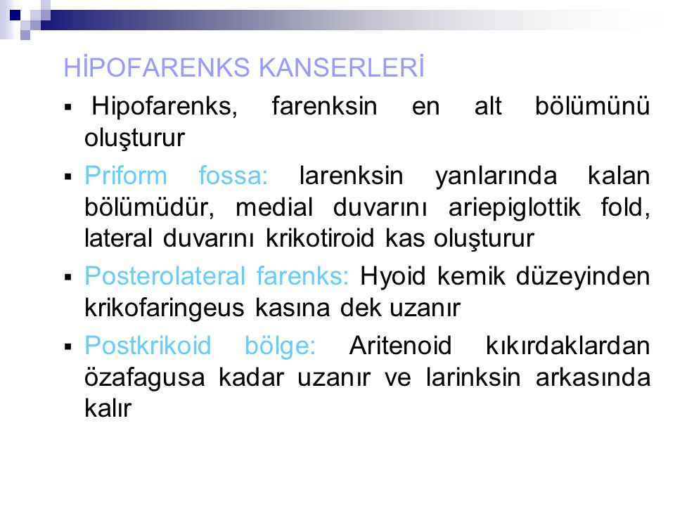 HİPOFARENKS KANSERLERİ