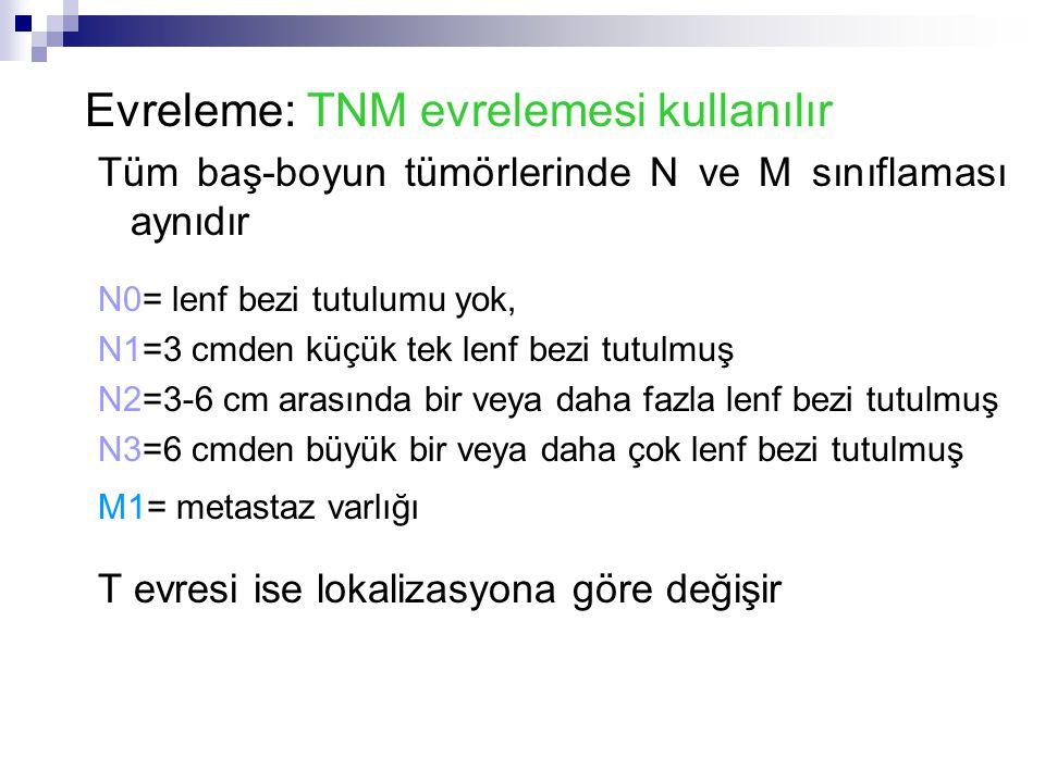 Evreleme: TNM evrelemesi kullanılır