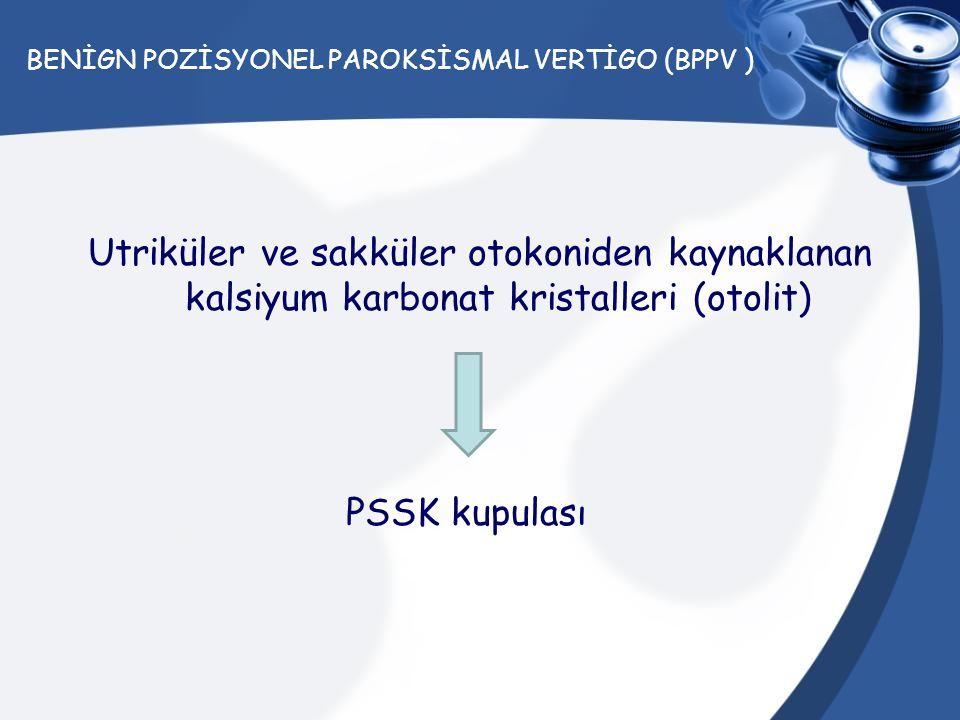 BENİGN POZİSYONEL PAROKSİSMAL VERTİGO (BPPV )