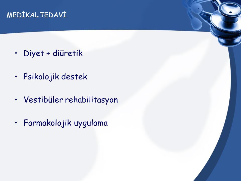 Vestibüler rehabilitasyon Farmakolojik uygulama