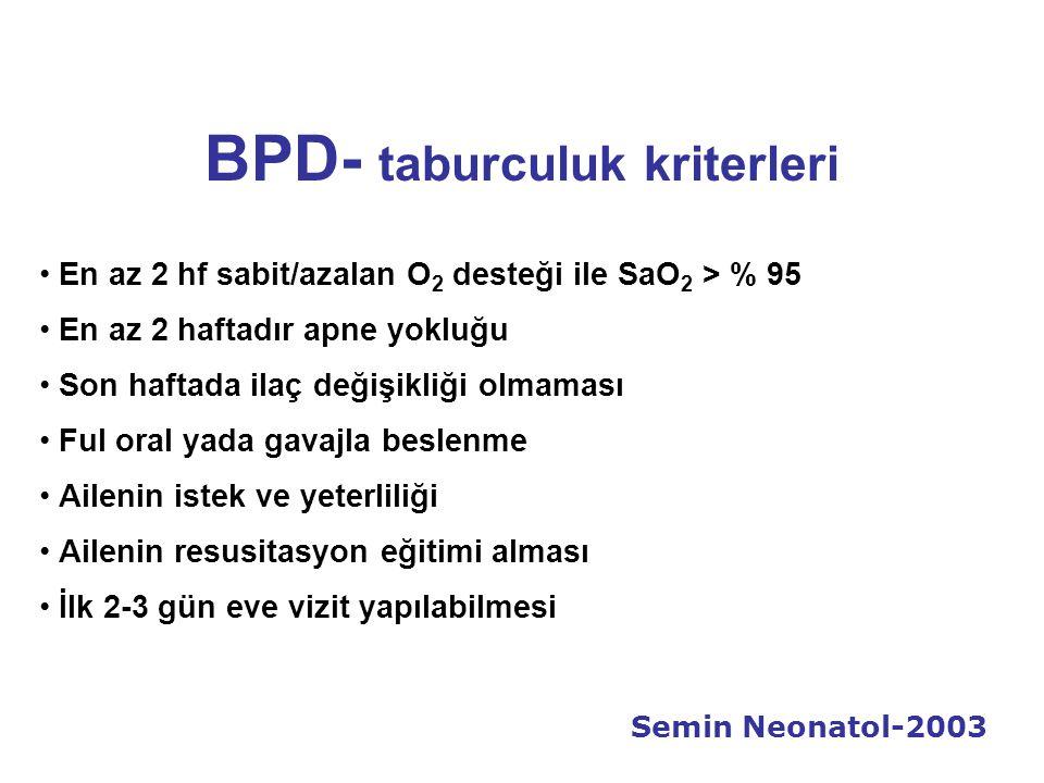 BPD- taburculuk kriterleri