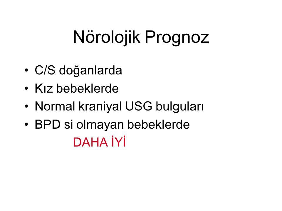 Nörolojik Prognoz C/S doğanlarda Kız bebeklerde