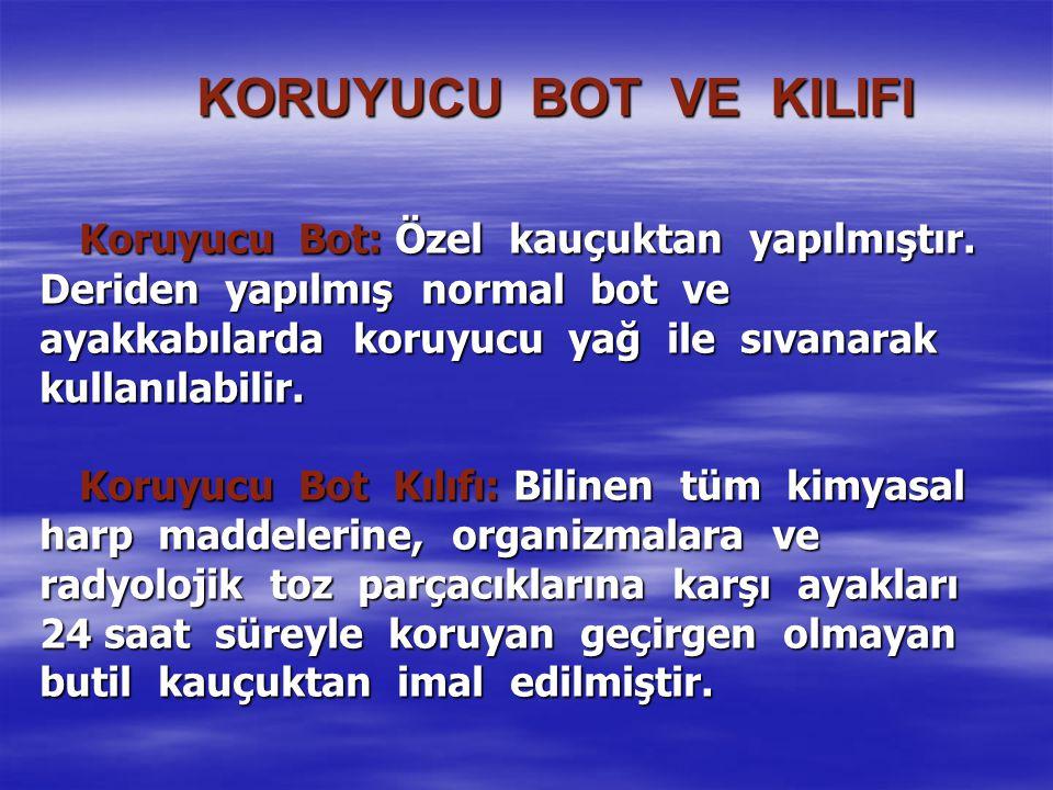 KORUYUCU BOT VE KILIFI Koruyucu Bot: Özel kauçuktan yapılmıştır.