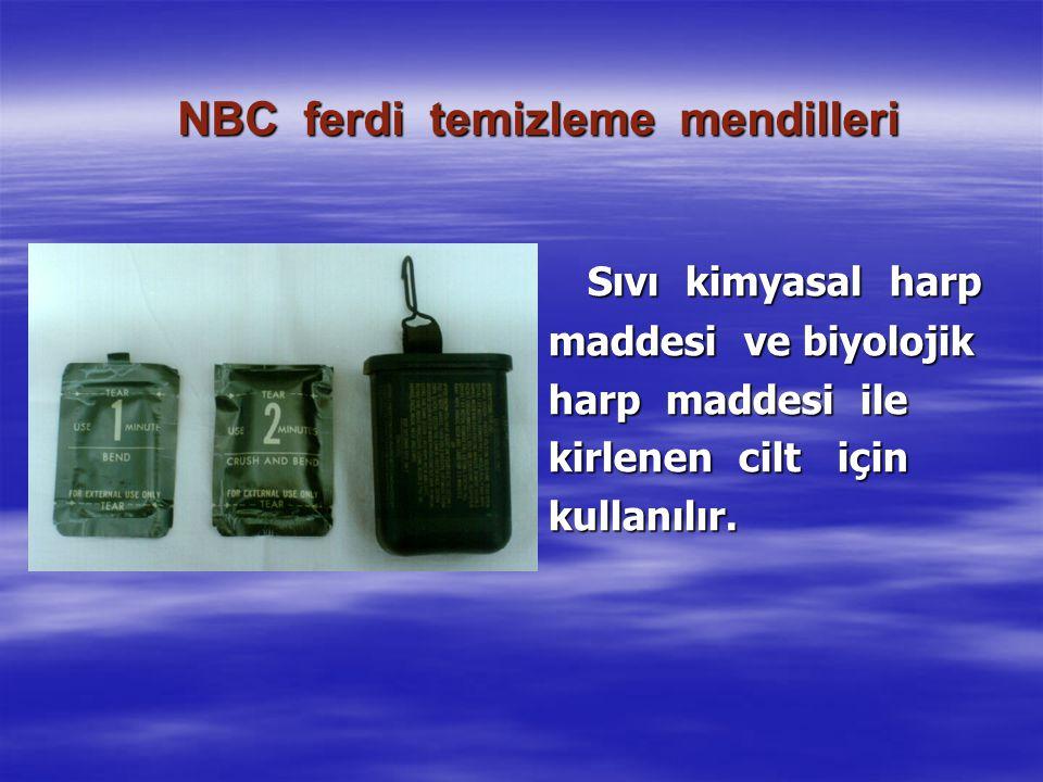 NBC ferdi temizleme mendilleri