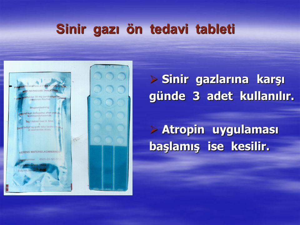 Sinir gazı ön tedavi tableti