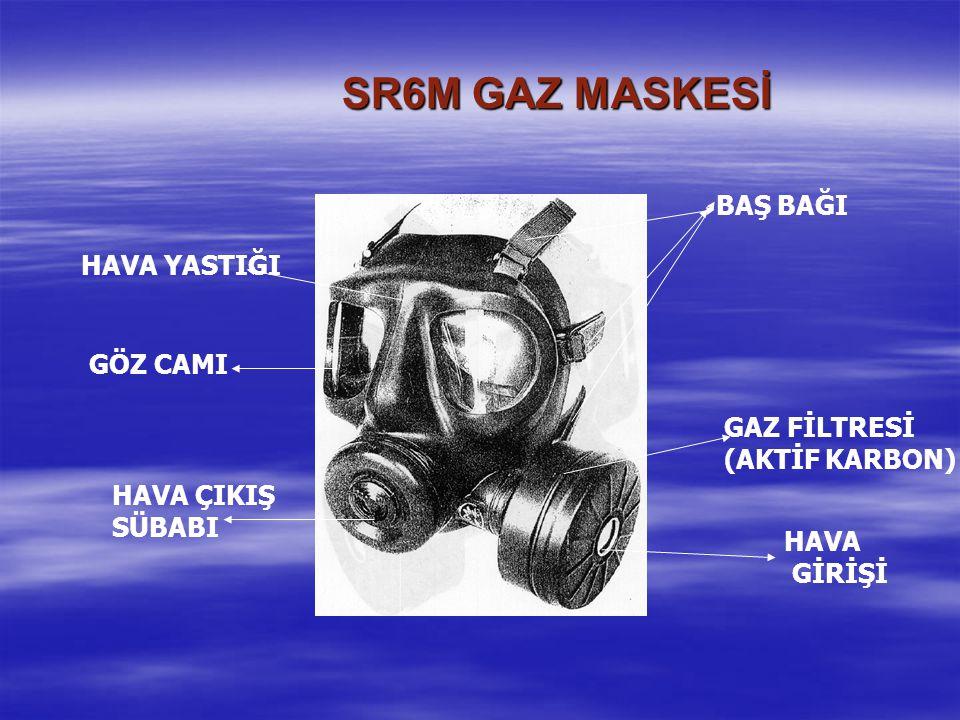 SR6M GAZ MASKESİ BAŞ BAĞI HAVA YASTIĞI GÖZ CAMI GAZ FİLTRESİ