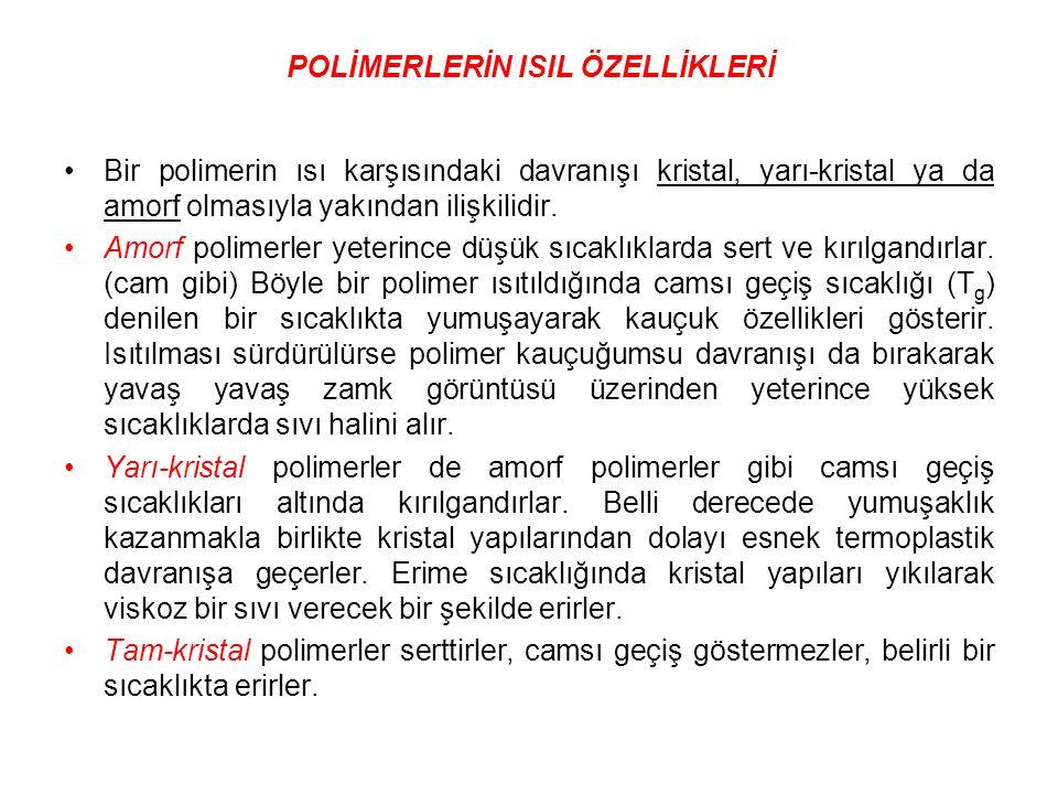 POLİMERLERİN ISIL ÖZELLİKLERİ