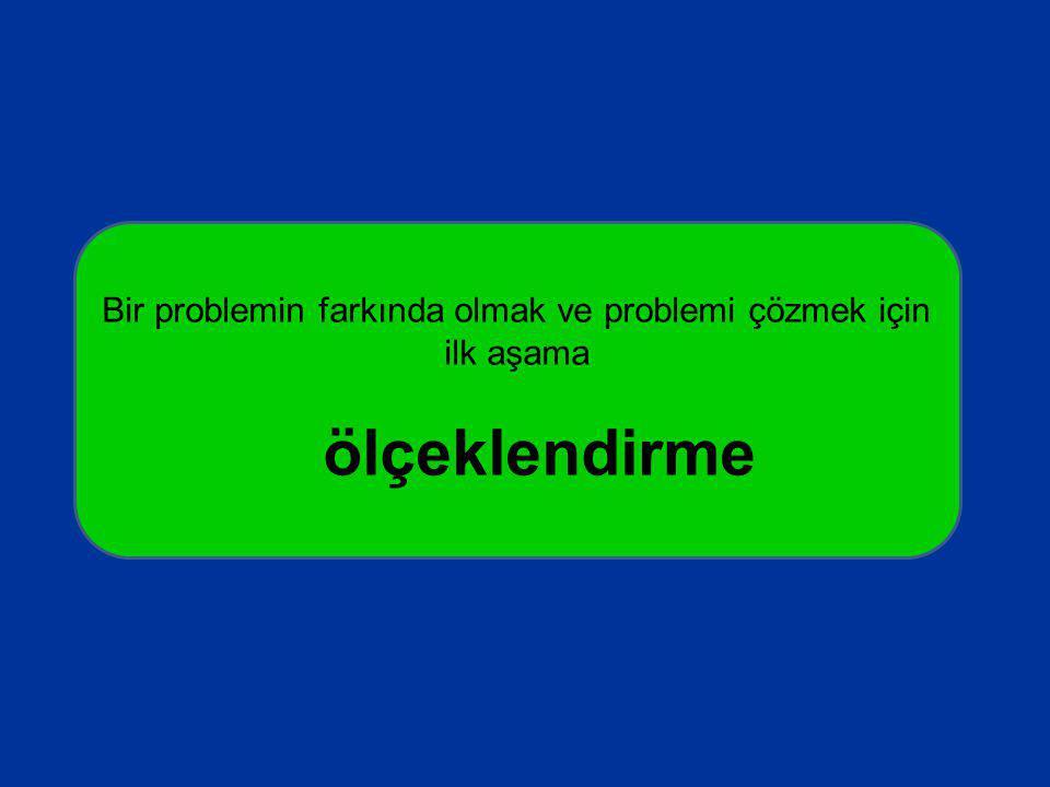 Bir problemin farkında olmak ve problemi çözmek için ilk aşama