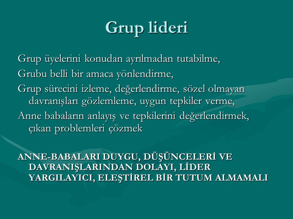 Grup lideri Grup üyelerini konudan ayrılmadan tutabilme,