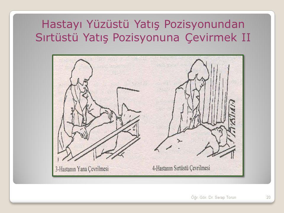 Hastayı Yüzüstü Yatış Pozisyonundan Sırtüstü Yatış Pozisyonuna Çevirmek II