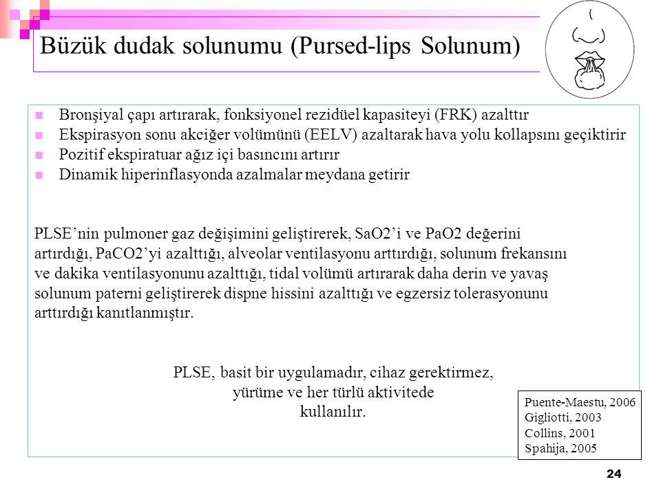 Büzük dudak solunumu (Pursed-lips Solunum)