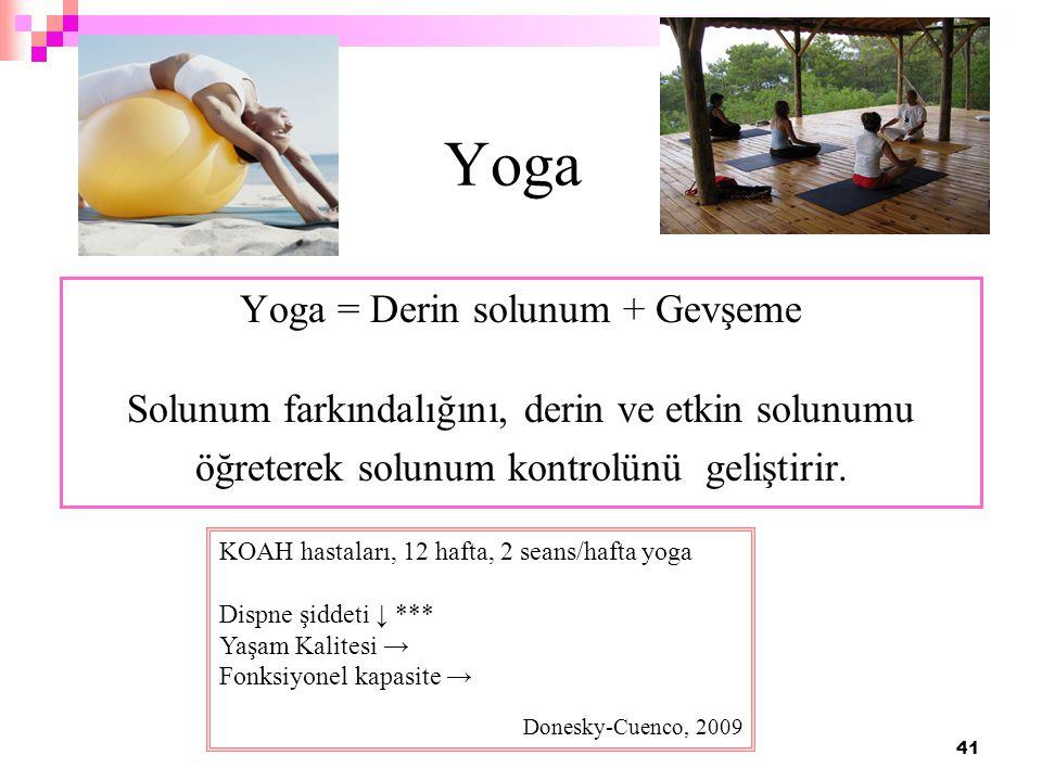 Yoga Yoga = Derin solunum + Gevşeme